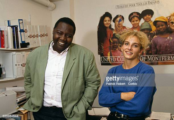 Fode Sylla and Delphine Batho president and vice president of the political group SOS Racisme stand in their Paris office SOS Racisme was founded in...