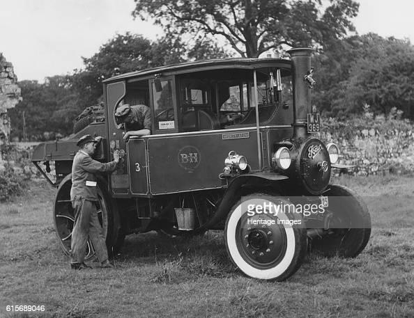 Foden D type steam truck 1932 at Beaulieu rally 1957 Artist Unknown