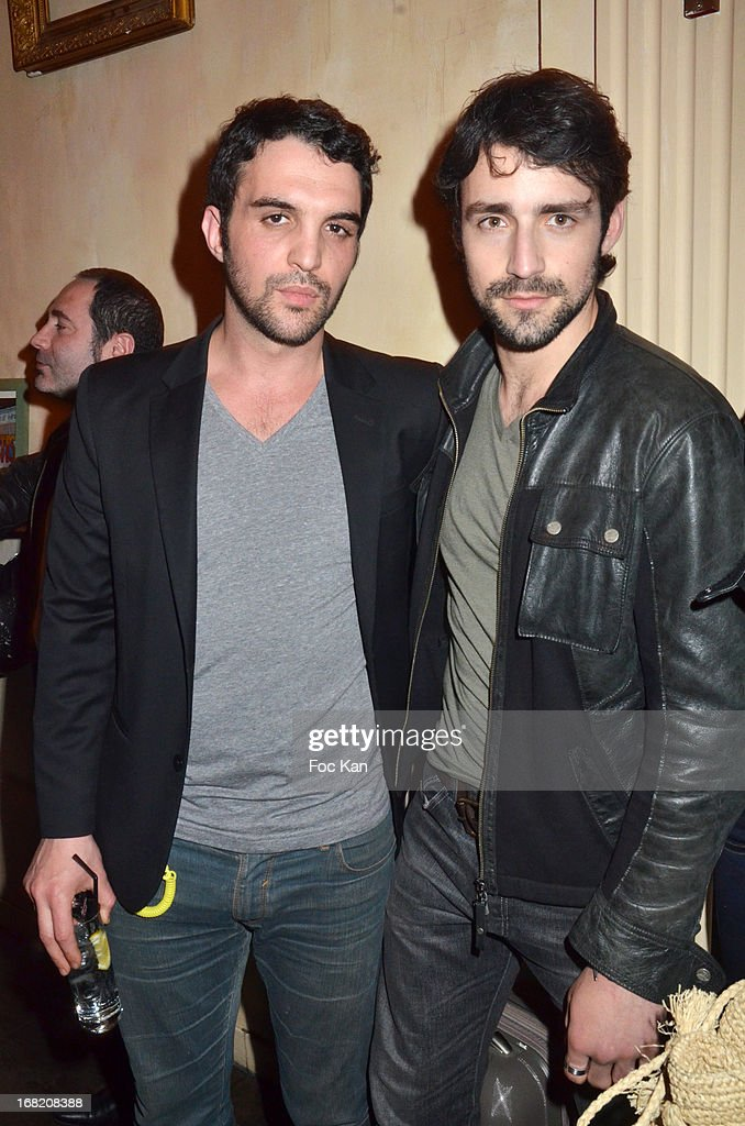 Foed Amara and Gray Orsatelli attend the 'Speakeasy' Party At The Lefty Bar Restaurant on May 6, 2013 in Paris, France.