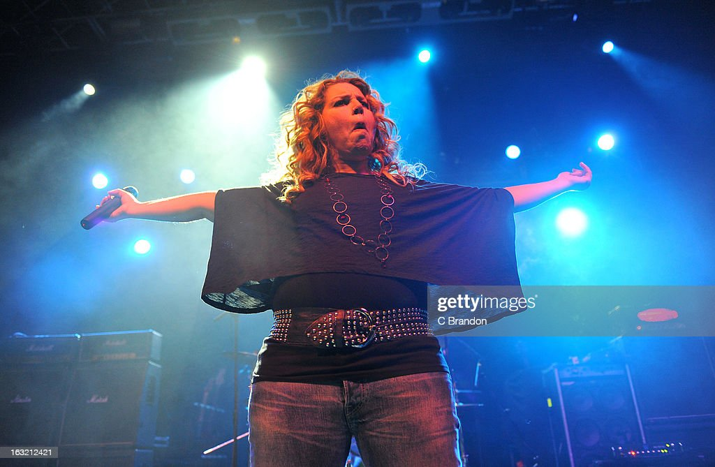 Fofi Roussos of 4Bitten performs on stage at The Forum on March 5, 2013 in London, England.