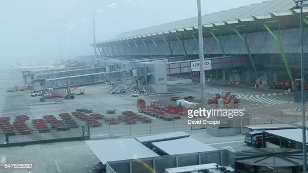 Fog at Madrid airport