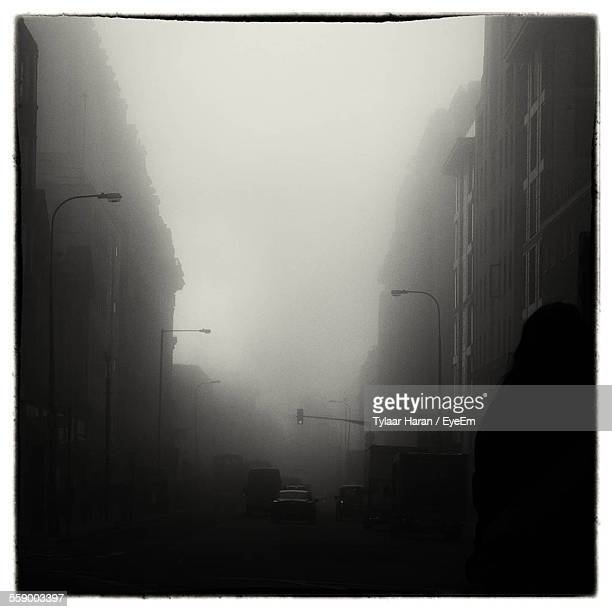 Fog Covering Street