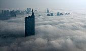 Fog in Dubai Marina
