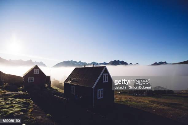Fog in Tasiusaq - Tasermiut fjord