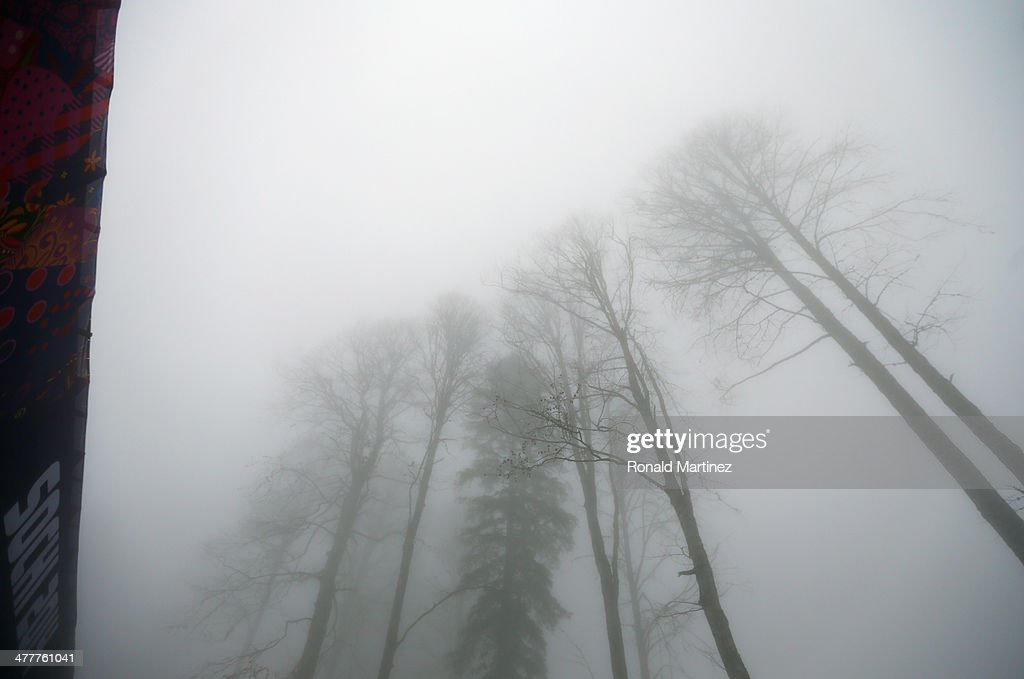 Fog in the trees during day four of Sochi 2014 Paralympic Winter Games at Laura Cross-country Ski & Biathlon Center on March 11, 2014 in Sochi, Russia.