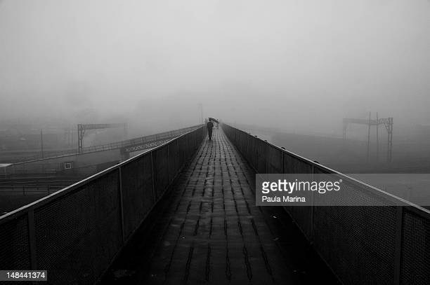 Fog on bridge