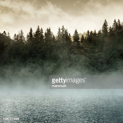 Fog on Lake at Sunrise