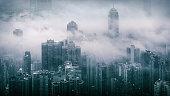 Fog over Hong Kong