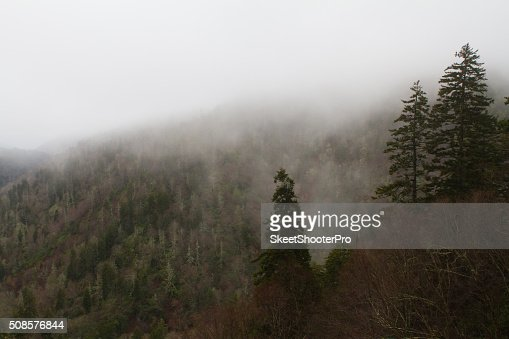 Fog Over The Mountain : Stock Photo