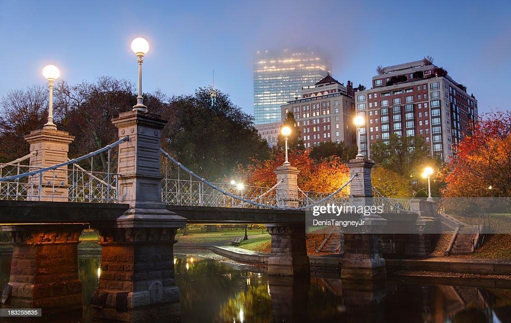 Foggy Autumn Morning in Boston