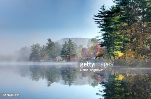 Foggy Autumn Morning in the Monadnock Region of New Hampshire
