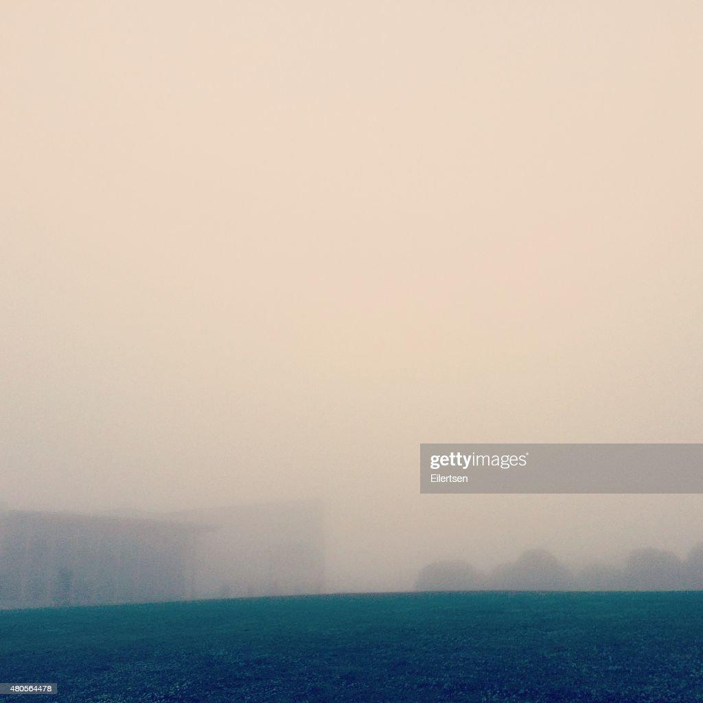 Foggy buildings : Stock Photo