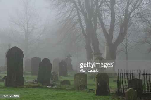 Foggy graveyard,Jersey.