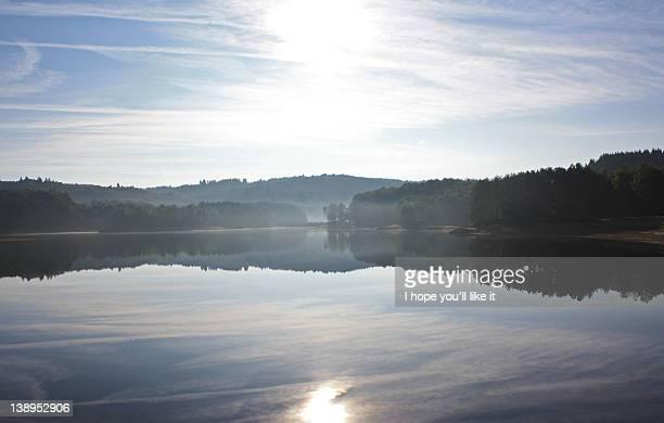 Foggy morning at river