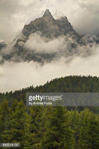 A foggy morning in Aosta valley