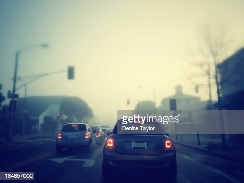 Foggy morning on the road