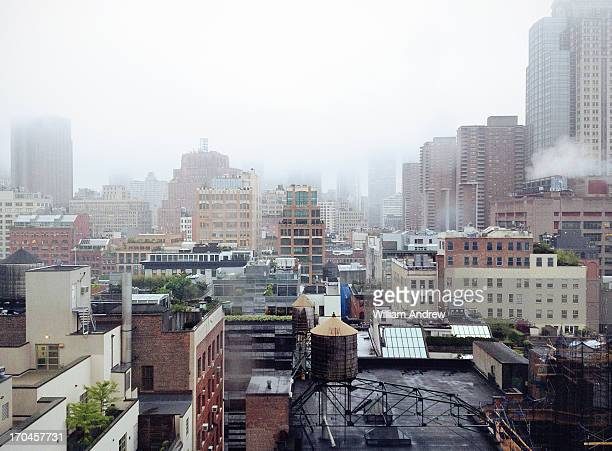 Foggy New York City, view of Tribeca
