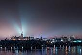 foggy ottawa at night