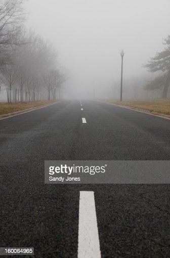 Foggy Road : Stock Photo