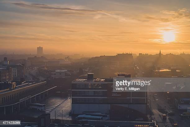 Foggy Sunrise over Birmingham UK
