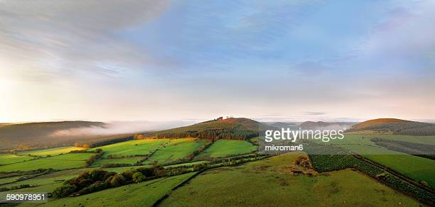 Foggy sunrise over Tipperary mountains