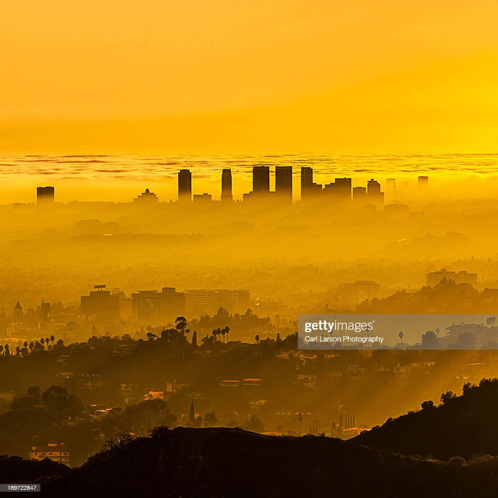 Foggy LA Sunset