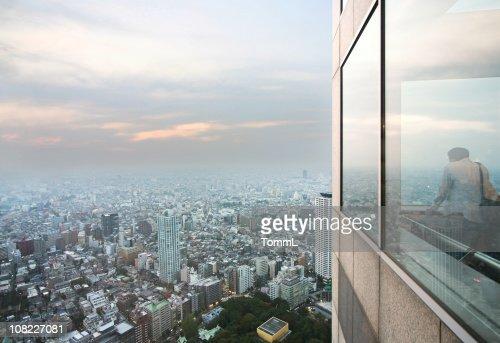 foggy Tokyo : Bildbanksbilder