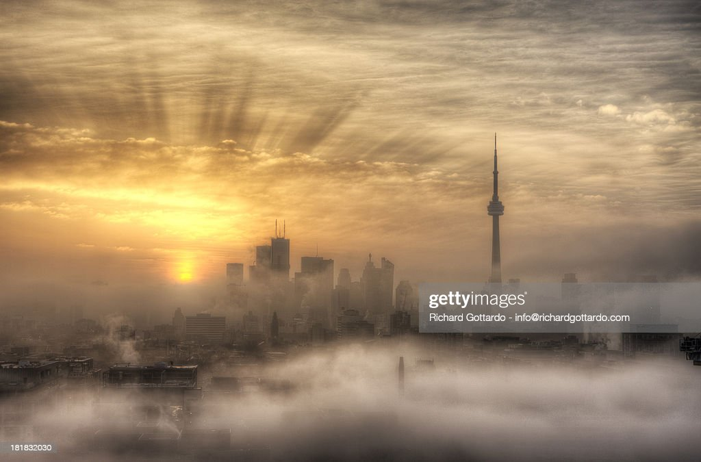 Foggy Toronto sunrise