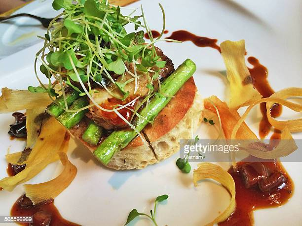Foie gras dished