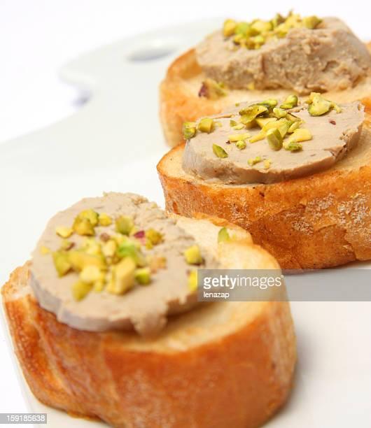 Foie gras baguette et à la pistache