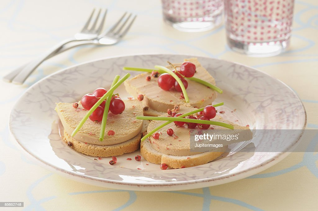 foie gras pate on toast stock photo getty images. Black Bedroom Furniture Sets. Home Design Ideas