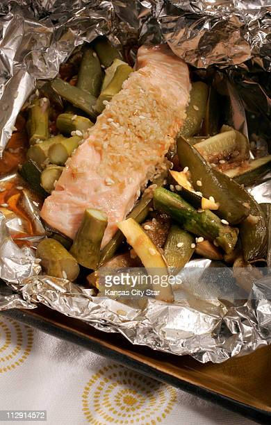 Foil packets are a lowfat way to cook a satisfying meal of fish and vegetables