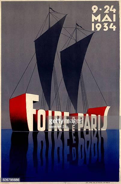 Foire De Paris Fair Advertisement Poster by Albert