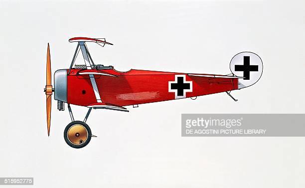Fokker Dr I Dreidecker triplane fighter aircraft Germany drawing