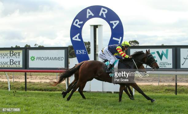 Fold ridden by Roger Booth wins the Millear Family 0 58 Handicap at Ararat Racecourse on April 29 2017 in Ararat Australia