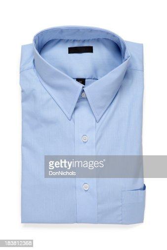 Folded Blue Men's Shirt