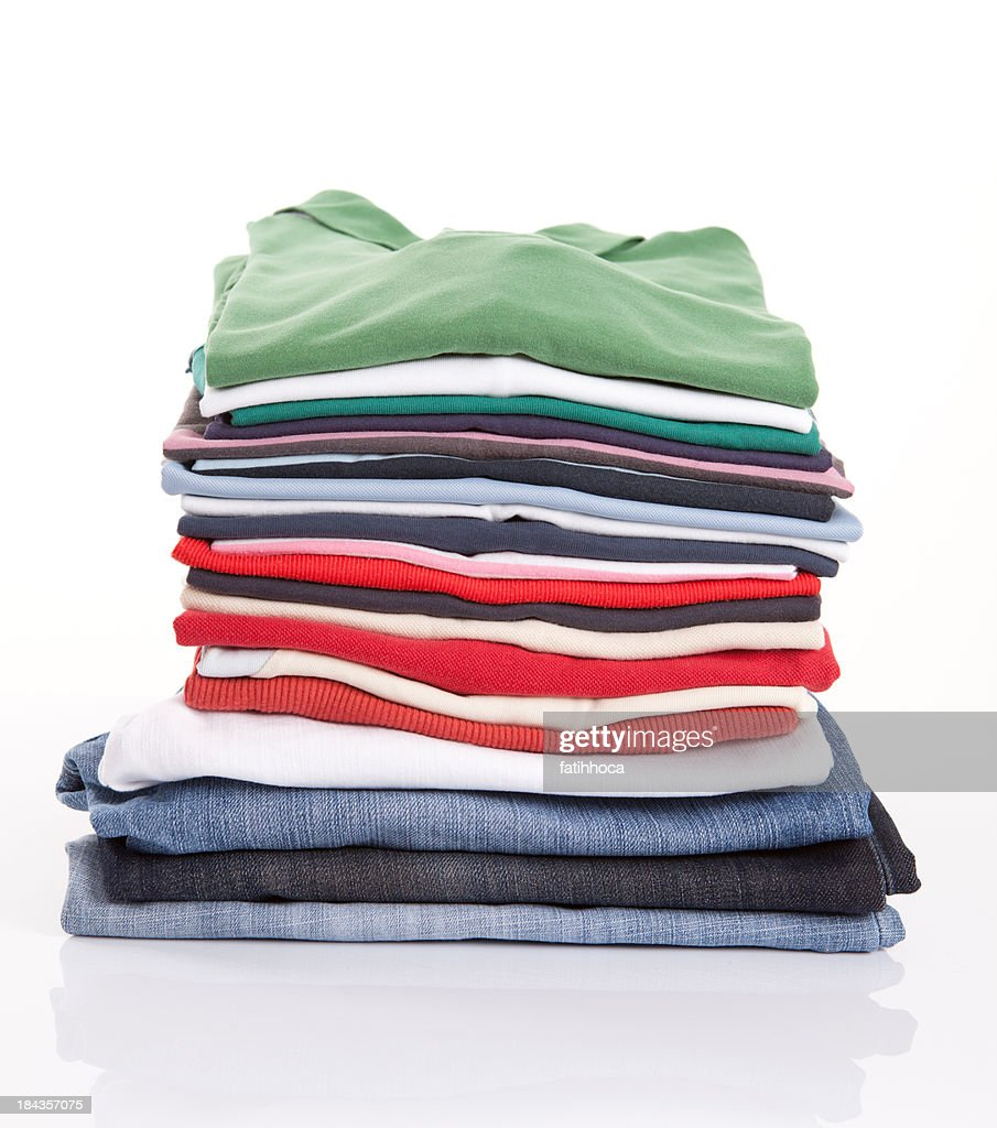 folded clothing stock photo getty images