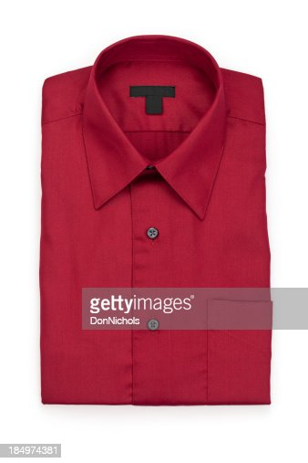 Folded Man's Red Shirt
