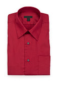 Folded Man's Red Shirt