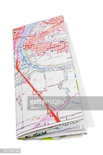Folded Map : Stock Photo
