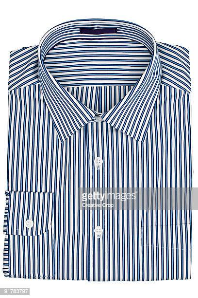 Folded men's business shirt