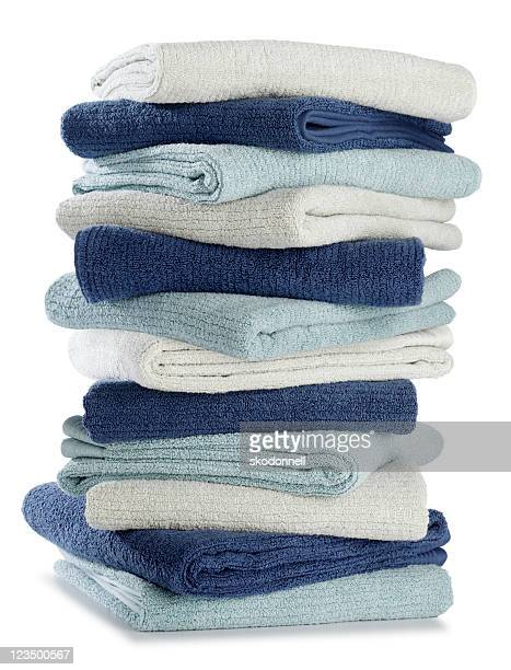 Folded Stack of Pastel Bath Towels