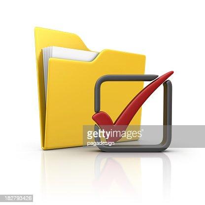 folder and check mark