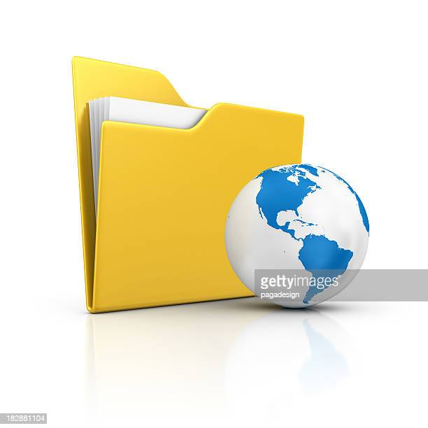 folder and earth