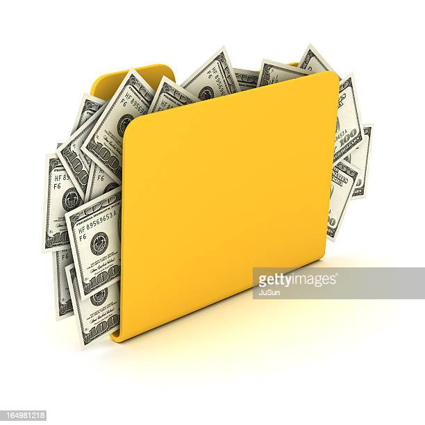 Folder and money