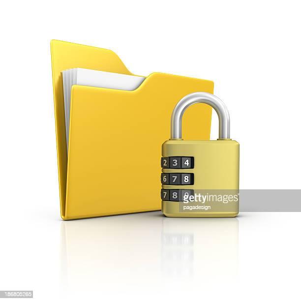 Dossier et cadenas