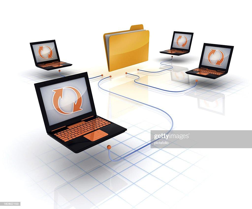 Folder or File Sharing : Stock Photo