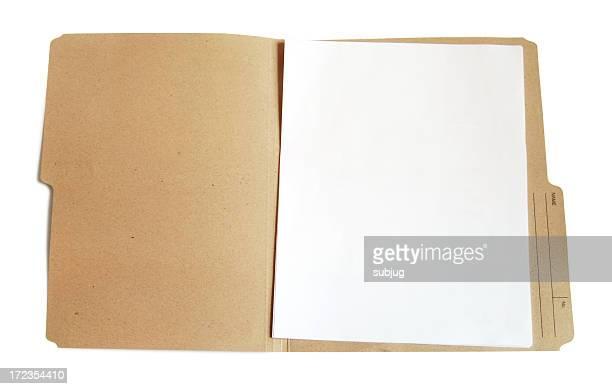 Folder with blank document