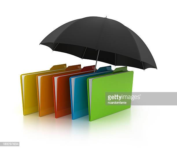 3D folder with umbrella