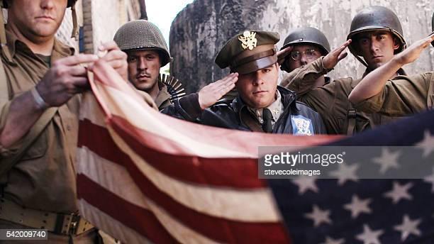 Folding Amercian Flag